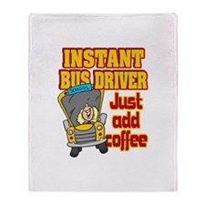 Instant Bus Driver Throw Blanket