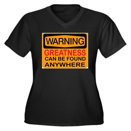 SEARCH FOR IT Women's Plus Size V-Neck Dark T-Shir