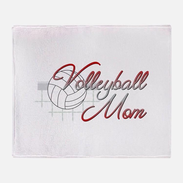 Volleyball Mom 3 Throw Blanket