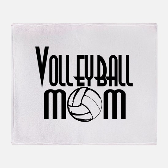Volleyball Mom 5 Throw Blanket