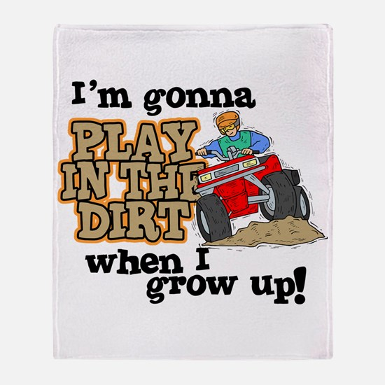 Play In The Dirt Throw Blanket