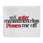 Anger Management Class Throw Blanket