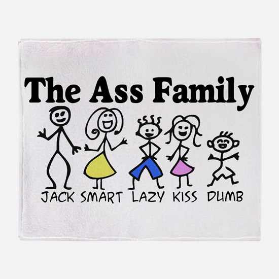 The Ass Family Throw Blanket