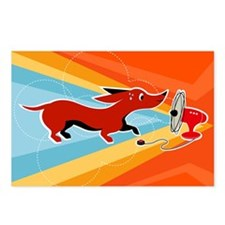 Hot Wiener dachshund postcard set