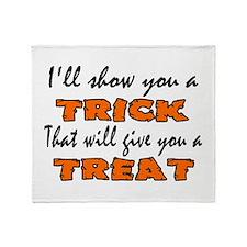 Halloween Trick Throw Blanket