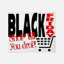 Black Friday Shopping Cart Throw Blanket