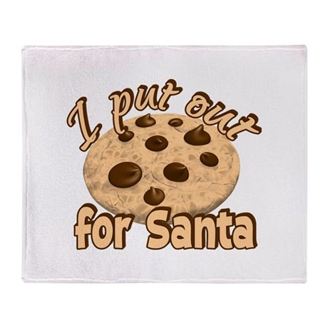 Cookies for Santa Throw Blanket