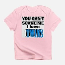 You Can't Scare Me...Twins Blue Infant T-Shirt
