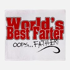 World's Best Farter (oops.. FATHER!) Throw Blanket