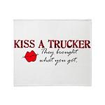 Kiss a Trucker Throw Blanket