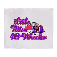 Little Miss 18-Wheeler Throw Blanket