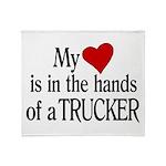 My Heart in the Hands Trucker Throw Blanket