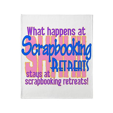 Scrapbooking Retreats Shhh! Throw Blanket