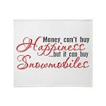 Snowmobiling Throw Blanket