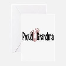 Proud Grandma (Girl) Greeting Cards (Pk of 10)
