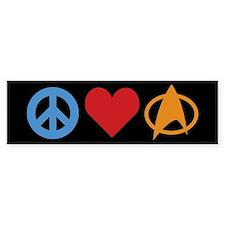 Peace Love Star Trek Bumper Stickers