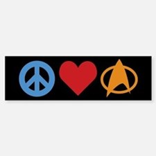 Peace Love Star Trek Car Car Sticker
