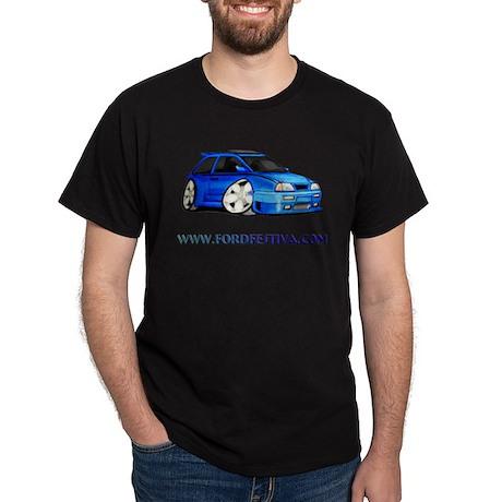 Blue FF.Com Custom Black T-Shirt