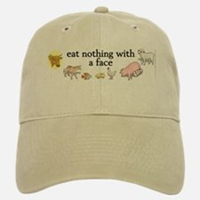 eat nothing with a face Baseball Baseball Cap