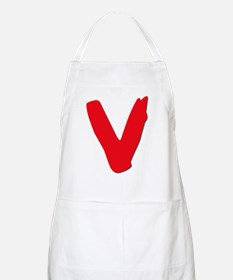 V Symbol Visitors TV Apron