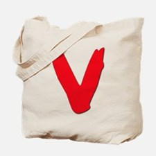 V Symbol Visitors TV Tote Bag