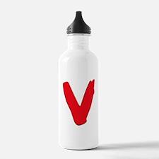 V Symbol Visitors TV Water Bottle