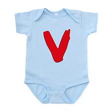 V Symbol Visitors TV Infant Bodysuit