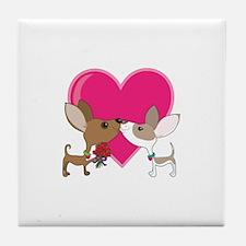 Chihuahua Love Tile Coaster
