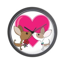 Chihuahua Love Wall Clock