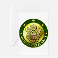 Army Green Logo Greeting Cards (Pk of 10)