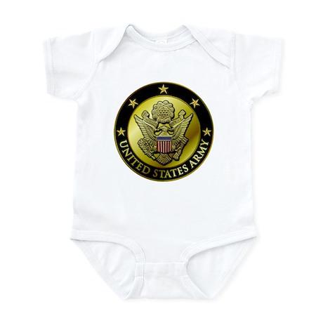 Army Black Logo Infant Bodysuit