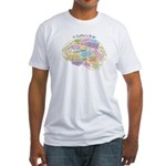 Quilter's Brain Fitted T-Shirt