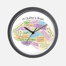 Quilter's Brain Wall Clock