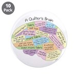 """Quilter's Brain 3.5"""" Button (10 pack)"""
