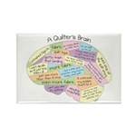 Quilter's Brain Rectangle Magnet (100 pack)