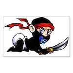 Ninja Baby Sticker (Rectangle 10 pk)