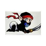 Ninja Baby Rectangle Magnet
