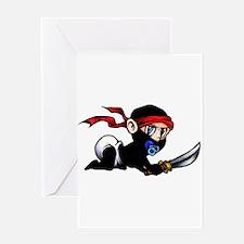 Ninja Baby Greeting Card
