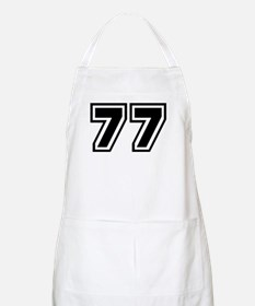 Varsity Uniform Number 77 BBQ Apron