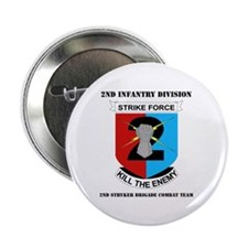 "DUI - 2nd Stryker BCT with Text 2.25"" Button"