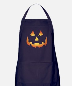 Scary Pumpkin Face Apron (dark)