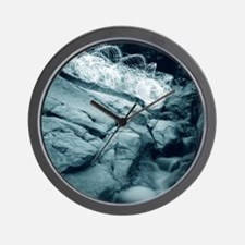 Molino Falls Blue Wall Clock
