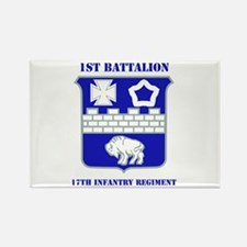 DUI - 1st Bn - 17th Infantry Regt with Text Rectan