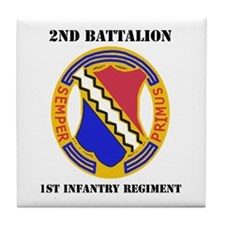 DUI - 2nd Bn - 1st Infantry Regt with Text Tile Co