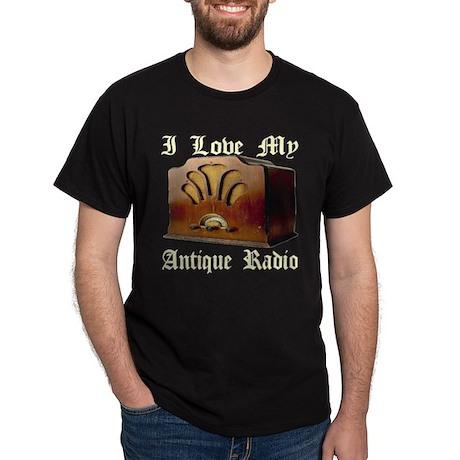 I Love My Antique Radio Dark T-Shirt