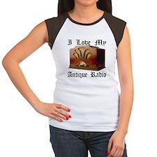 I Love My Antique Radio Women's Cap Sleeve T-Shirt