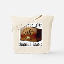 I Love My Antique Radio Tote Bag