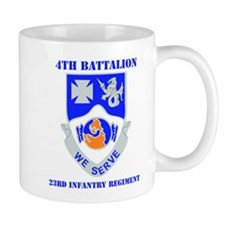 DUI - 4th Bn - 23rd Infantry Regt with Text Mug