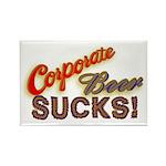 Corporate Beer Sucks Rectangle Magnet