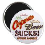 """Corporate Beer Sucks 2.25"""" Magnet (100 pack)"""